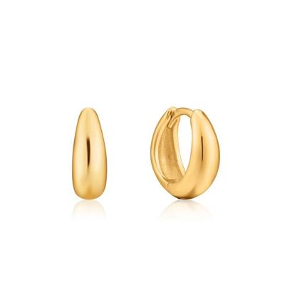 Buy Ania Haie Luxe Minimalism Gold Huggie Hoop Earrings
