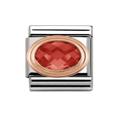 Buy Nomination Red CZ & Rose Gold Oval