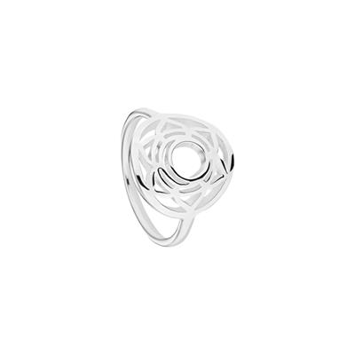 Buy Daisy Sacral Chakra Silver Ring Large