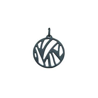 Buy Les Georgettes Oxidised Silver Perroquet Pendant Small