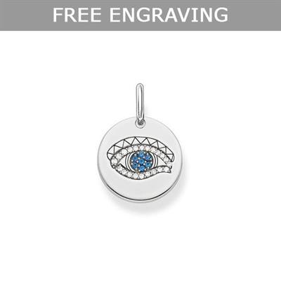 Buy Thomas Sabo Silver CZ Spinel Eye of Horus Coin Pendant