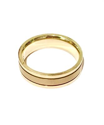 Buy Precious Gems Two tone 18ct Gold & Titanium Ring Size T