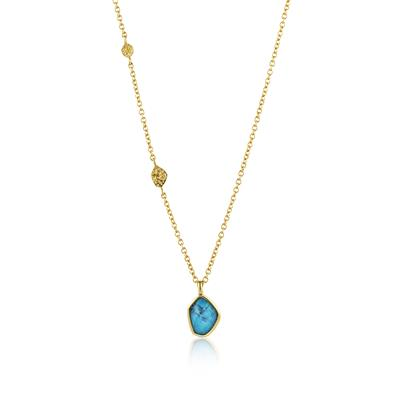 Buy Ania Haie Gold Turquoise Pendant Necklace