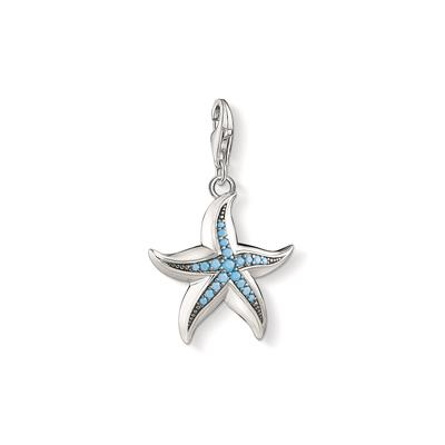 Buy Thomas Sabo Large Silver Starfish Charm With Blue CZ