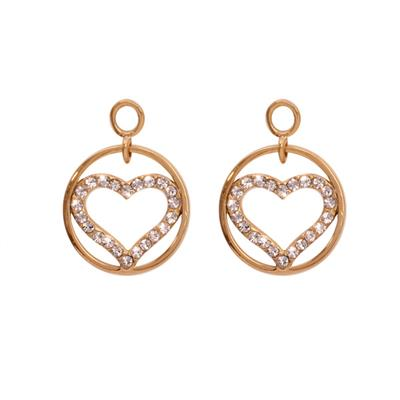 Buy Nikki Lissoni Sparkling Heart Gold Coin Drops