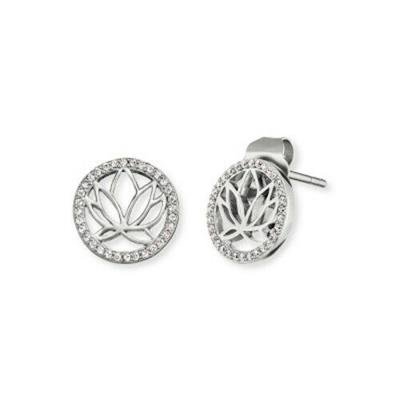 Buy Engelsrufer CZ Lotus Disc Studs