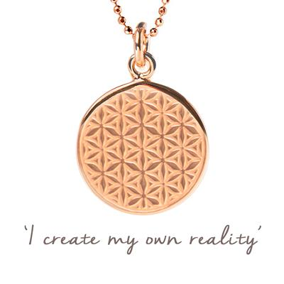 Buy Mantra Mel Wells Flower of Life Disc Necklace in Rose Gold