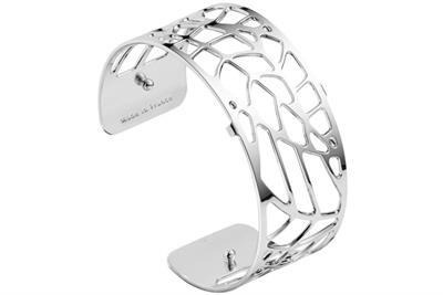 Buy Les Georgettes Medium Silver Fougere Cuff Bangle