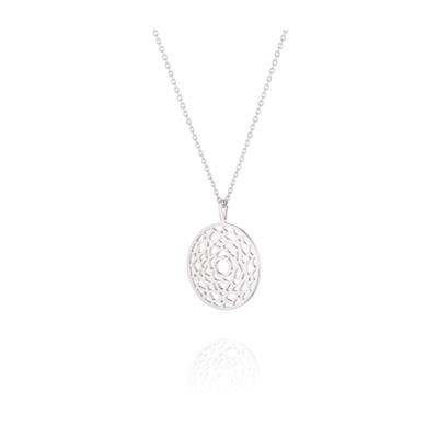 Buy Daisy Crown Chakra Silver Short Necklace