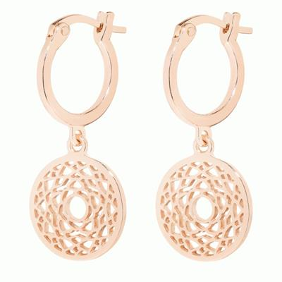 Buy Daisy Crown Chakra Rose Gold Drop Earrings