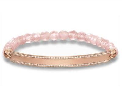 Buy Thomas Sabo Rose Quartz Love Bridge Bracelet Small 15.5cm