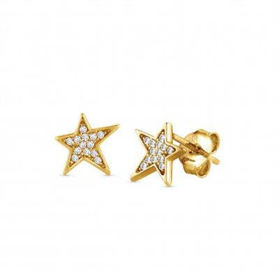 Buy Nomination Gold CZ Star Earrings
