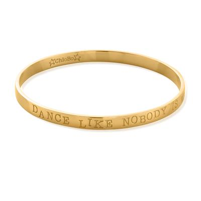Buy ChloBo 'Dance' Gold Boho Small Bangle