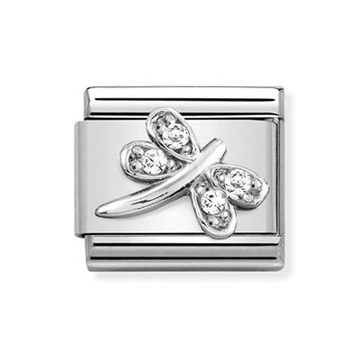 Buy Nomination Silver & CZ Dragonfly Charm