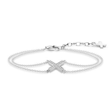 Buy Thomas Sabo CZ Cross Bracelet Sterling Silver