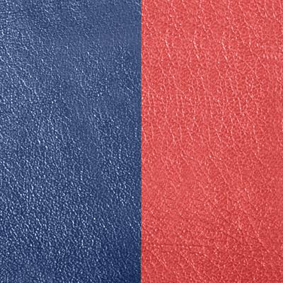 Buy Les Georgettes Marine Blue / Rouille Wide Leather