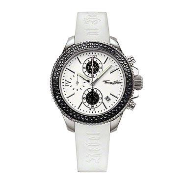 Buy Thomas Sabo White Strap Black CZ Rebel at Heart Watch