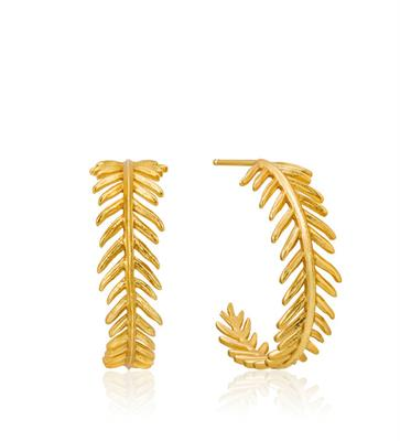 Buy Ania Haie Gold Tropic Thunder Hoop Earrings