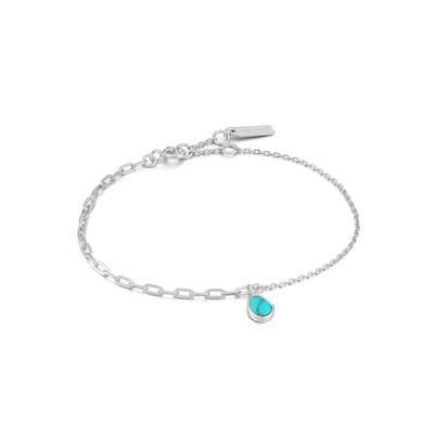 Buy Ania Haie Turning Tides Turquoise & Silver Mixed Link Bracelet
