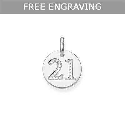 Buy Thomas Sabo Engravable 21 CZ Disc Pendant