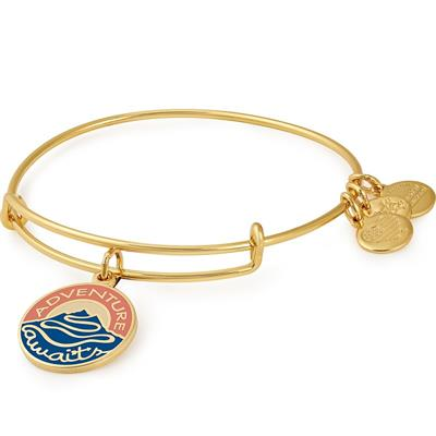 Buy Alex and Ani Adventure Awaits Colour Infusion Bangle in Shiny Gold