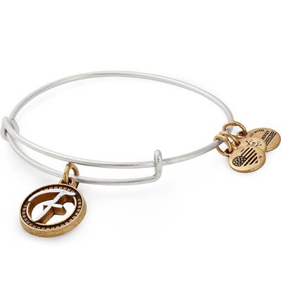 Buy Alex and Ani F Initial Two-Tone Bangle