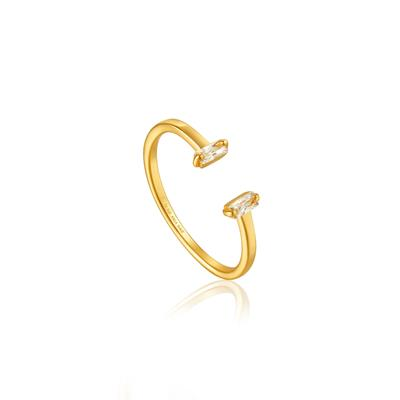 Buy Ania Haie Gold CZ Glow Adjustable Ring
