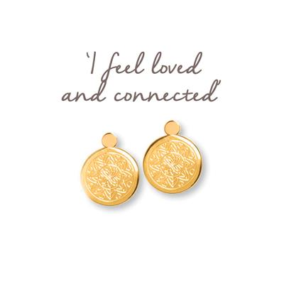 Buy Mantra Love Mandala Gold Drop Earrings