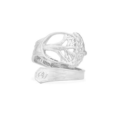 Buy Alex and Ani Unexpected Miracles Spoon Ring in Silver