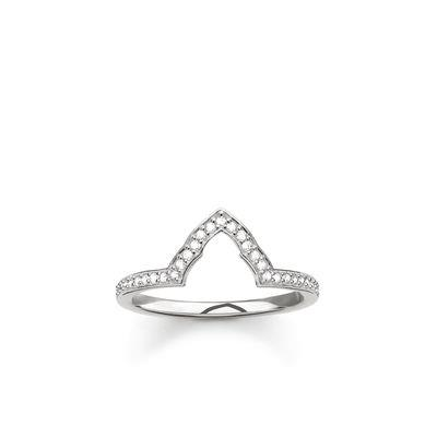 Buy Thomas Sabo Fatima's Garden Silver Temple Ring Size 56