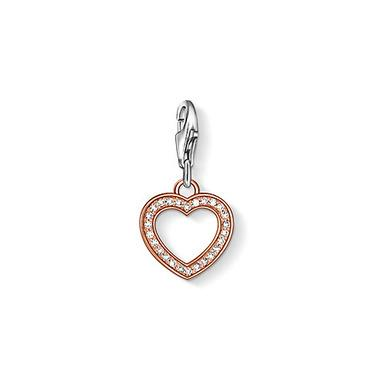 Buy Thomas Sabo Rose Gold Cut Out Heart Charm