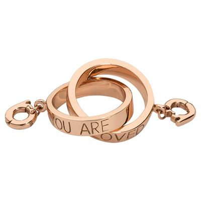 Buy Nikki Lissoni Rose Gold Forever Linked Together Sparkling Eternity Ring Charm Pendant
