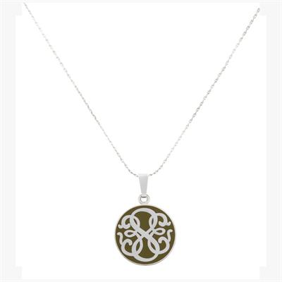 Buy Alex and Ani Path of Life Avocado Necklace in Shiny Silver Finish
