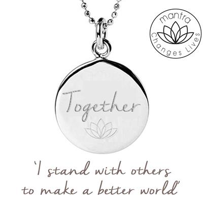 Buy Mantra Together Think Equal, Charity Necklace in Sterling Silver