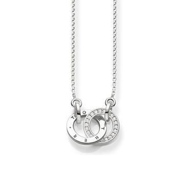 Buy Thomas Sabo Diamond and Silver Together Forever Necklace
