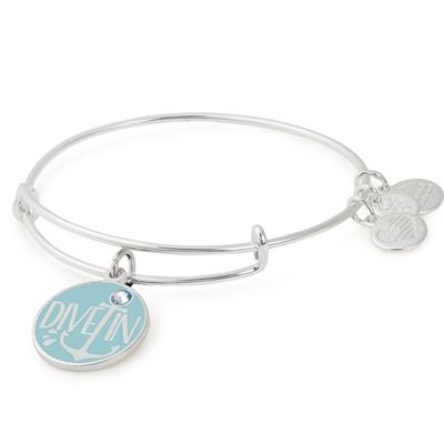 Buy Alex and Ani Dive In Colour Infusion Bangle in Shiny Silver