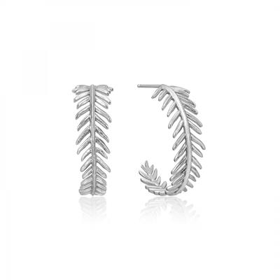 Buy Ania Haie Silver Tropic Thunder Hoop Earrings