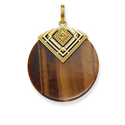 Buy Thomas Sabo Gold Triangle Tiger's Eye Pendant