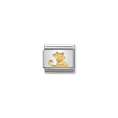 Buy Nomination Gold Sitting Cat Link