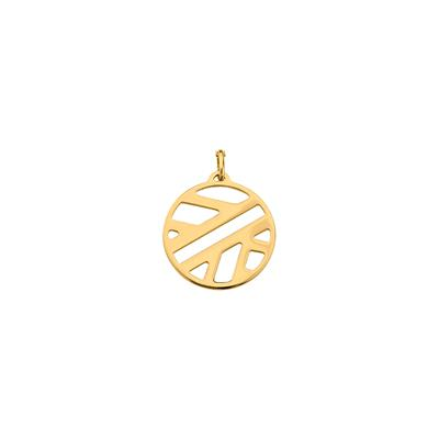 Buy Les Georgettes Medium Gold Round Ruban Pendant