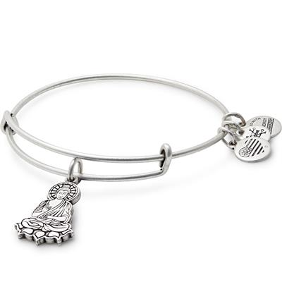 Buy Alex and Ani Buddha Bangle in Rafaelian Silver