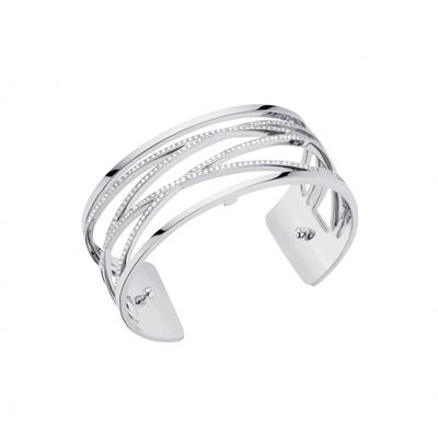 Buy Les Georgettes Medium Silver CZ Liens Cuff