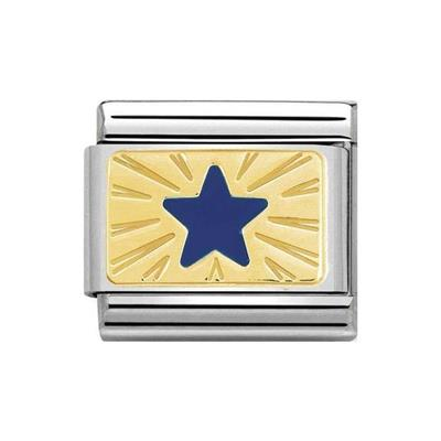 Buy Nomination Gold Blue Star Charm