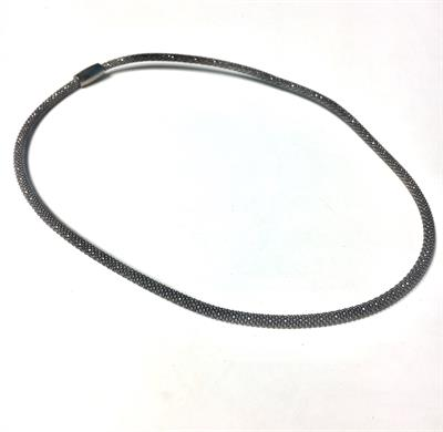 Buy Pure Attraction Mini Mesh Necklace in Black Rhodium
