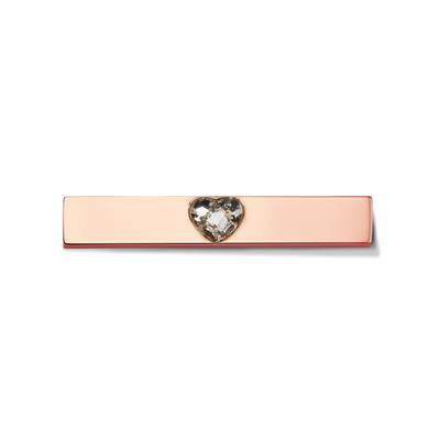 Buy Take What You Need Rose Gold Toned Swarovski Heart Bar