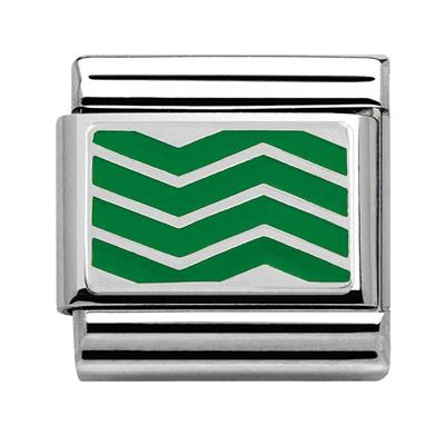 Buy Nomination Green Chevron Charm