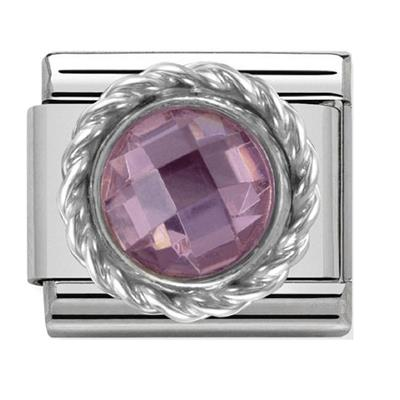 Buy Nomination Silver Pink Round CZ