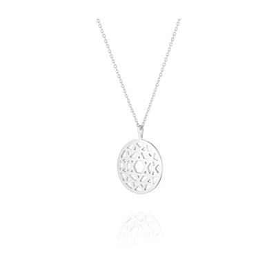 Buy Daisy Heart Chakra Silver Short Necklace