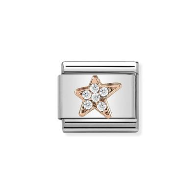 Buy Nomination Rose Gold & CZ Asymmetric Star