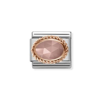 Buy Nomination Rose Gold Apricot Chalcedony Charm